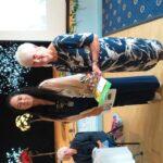 Presentation to category winner Ecology garden Margaret Walton