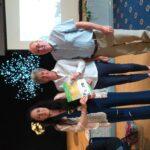 Presentation of Gold certificate to Debbie & Mark Jackson